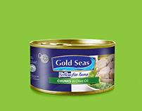 Gold Seas Tuna Label Design