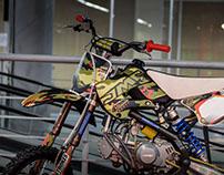 Camo pitbike graphic design