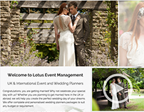 Wedding Planner Website - Brochure Website