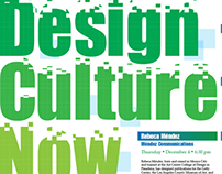 Design Culture Now Poster Designs