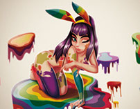 paint+bunny