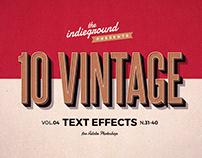 Retro/Vintage Text Effects Vol.4