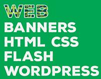 Web, HTML, CSS , Nav Bar, Flash