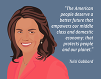 Tulsi Gabbard Digital Illustration for Social Media