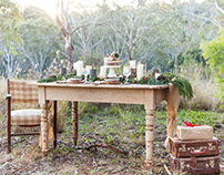 Rustic Christmas Tablescape