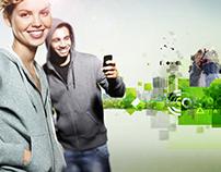 Cosmote Romania instore graphics.