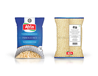 Package Designing: Afrin Rice Bags
