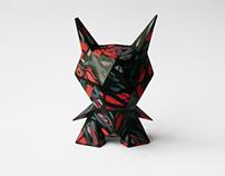 """Volcanix - Custom 3"""" Evil Origami resin"""