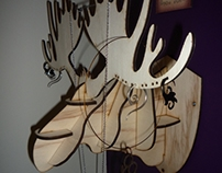 Laser cut moose jewelry holder