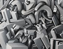 Diptyque acrylique 180/60 sMer /ikOn - Le Centre prod