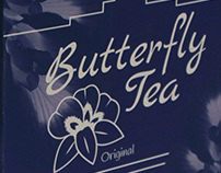 Butterfly Tea, Beverage Packaging mock-up
