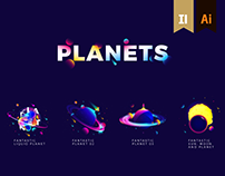 PLANETS ILLUSTRATION