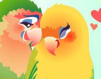 Blushing Birdies