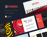 Simplex – Free minimal business plan Powerpoint templat