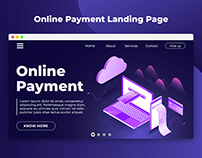 Online Payment Landing Page Concept