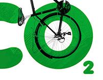 'NO C02' Cycling Poster