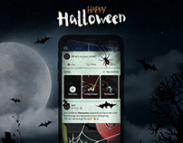 iPhone X - Free Halloween Style Mockup