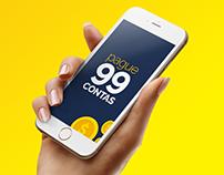 Pague 99 Contas - Branding and UI Design
