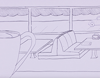 Diner Environment Animation