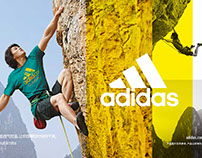 Adidas China Outdoor Wear in store visuals