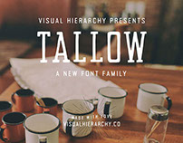 Tallow Handcrafted Uppercase Font