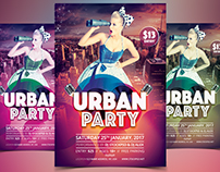 Urban Party - Free PSD Flyer Template