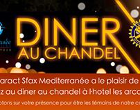 Affiche + invitation Dinner au chandel