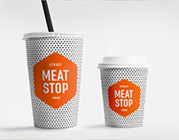 Brand identity for MEAT STOP street food