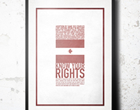 """""""Know Your Rights"""" Poster"""