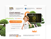 Children's Camp - landing page