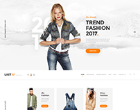 Last40 Store - Ecommenrce PSD Template
