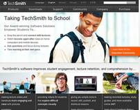 TechSmith Homepage designs