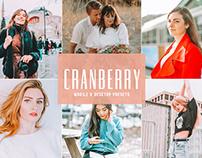 Free Cranberry Mobile & Desktop Lightroom Presets