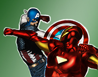 Captain Vs Iron Man illustration