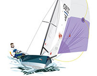 Laser 2000 Sailing Illustration