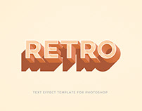 Free Retro/Vintage Text Effect For Photoshop