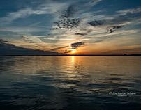 Sunset at Långedrag, Sweden