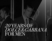 WEBSITE / 20 YEARS OF DOLCE&GABBANA