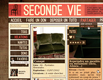 Seconde Vie // Social network about donation - 2012