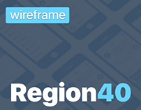Region40 – wireframes for regional news portal
