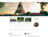 Airlines Booking Flights Web Design  -  For Sale