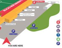Stadium map - directions plan