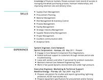 Procurement Specialist Resume Example