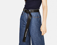 Lettering belt for Bershka SS18 Collection