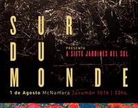 Poster. Sur du Monde - Presentación de disco