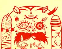 Poster Buffalo ardilla y los 3 tigres
