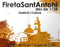 Cartel Fireta Sant Antoni 2016