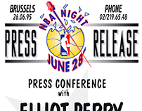 Press Release for the NBA Night (1995)
