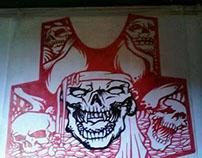Skull silkscreen