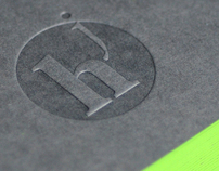Julien Hauchecorne | Business card | Lime-green
